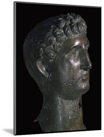 Bronze head of Hadrian, 1st century. Artist: Unknown-Unknown-Mounted Giclee Print