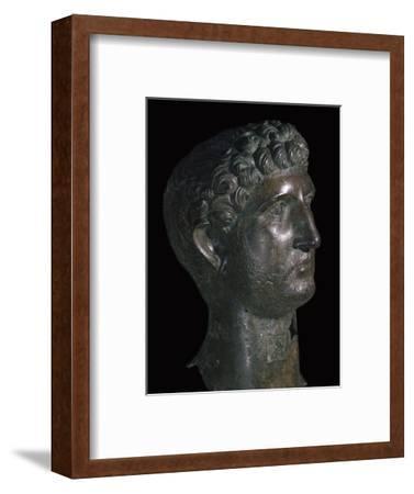 Bronze head of Hadrian, 1st century. Artist: Unknown-Unknown-Framed Giclee Print