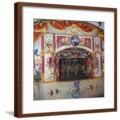 Sicilian marionette theatre. Artist: Unknown-Unknown-Framed Giclee Print
