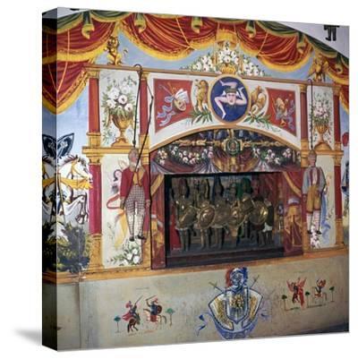Sicilian marionette theatre. Artist: Unknown-Unknown-Stretched Canvas Print