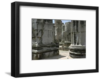 Greco-Roman temple of Apollo at Didyma, 2nd century. Artist: Unknown-Unknown-Framed Photographic Print