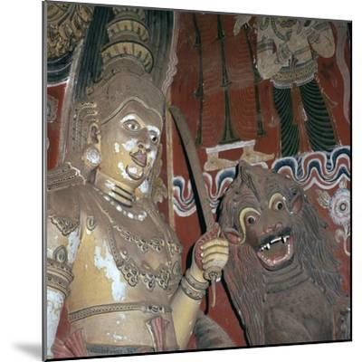 Guardian deities at the doorway of a Buddhist temple, 16th century. Artist: Unknown-Unknown-Mounted Giclee Print