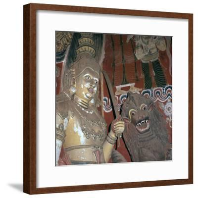 Guardian deities at the doorway of a Buddhist temple, 16th century. Artist: Unknown-Unknown-Framed Giclee Print