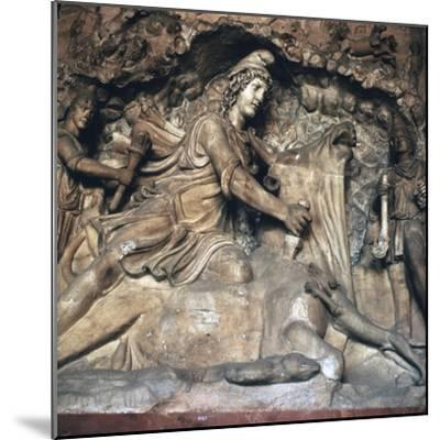 Roman depiction of Mithras killing the bull, 3rd century. Artist: Unknown-Unknown-Mounted Giclee Print