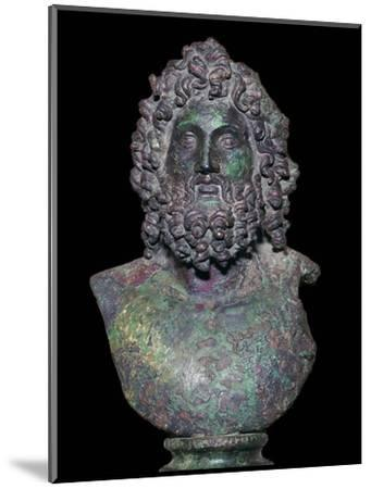 Roman bronze bust of the god Serapis, 4th century Artist: Unknown-Unknown-Mounted Giclee Print