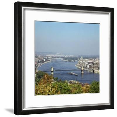 Budapest and the river Danube. Artist: Unknown-Unknown-Framed Photographic Print