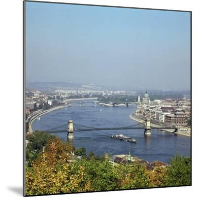 Budapest and the river Danube. Artist: Unknown-Unknown-Mounted Photographic Print