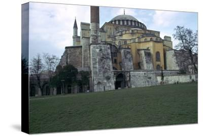 Mosque of St Sophia in Istanbul, 6th century. Artist: Unknown-Unknown-Stretched Canvas Print