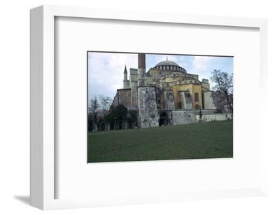 Mosque of St Sophia in Istanbul, 6th century. Artist: Unknown-Unknown-Framed Photographic Print
