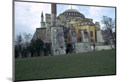 Mosque of St Sophia in Istanbul, 6th century. Artist: Unknown-Unknown-Mounted Photographic Print