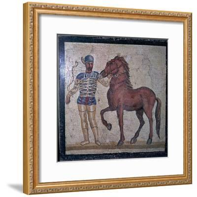 Roman mosaic of a charioteer, 1st century. Artist: Unknown-Unknown-Framed Giclee Print