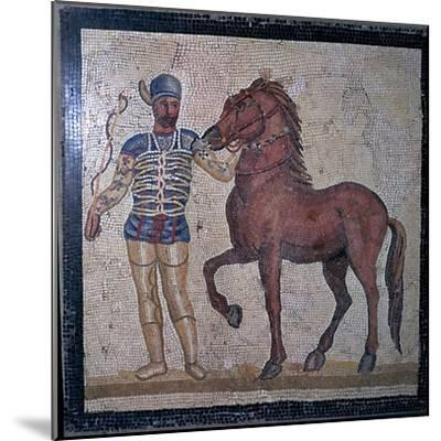Roman mosaic of a charioteer, 1st century. Artist: Unknown-Unknown-Mounted Giclee Print