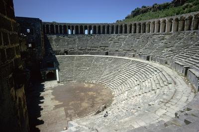 Roman theatre in Aspendos, 2nd century. Artist: Unknown-Unknown-Framed Photographic Print