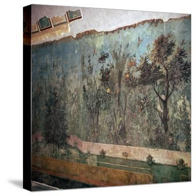 Painted room from Livia's villa, c.1st century BC. Artist: Unknown-Unknown-Stretched Canvas Print