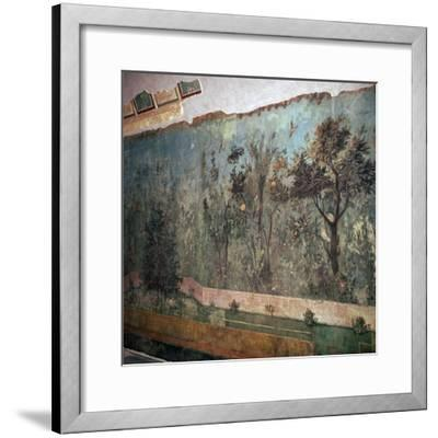 Painted room from Livia's villa, c.1st century BC. Artist: Unknown-Unknown-Framed Giclee Print
