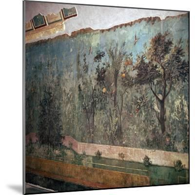 Painted room from Livia's villa, c.1st century BC. Artist: Unknown-Unknown-Mounted Giclee Print