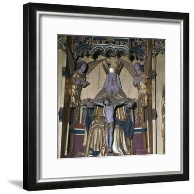 Altar-piece of God the Father, 15th century. Artist: Unknown-Unknown-Framed Giclee Print