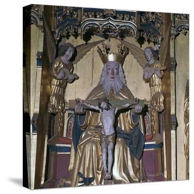 Altar-piece of God the Father, 15th century. Artist: Unknown-Unknown-Stretched Canvas Print