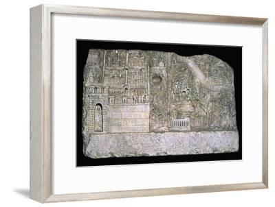 Roman relief of the city of Avezzano. Artist: Unknown-Unknown-Framed Giclee Print