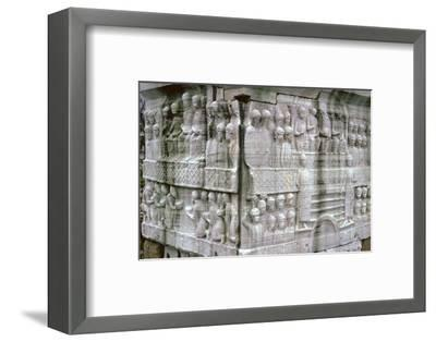 Base of an Egyptian obelisk, Byzantine Emperor Theodosius, 4th century. Artist: Unknown-Unknown-Framed Photographic Print