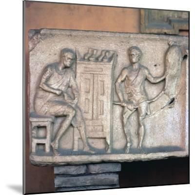 Relief of a Roman shoemaker and ropemaker. Artist: Unknown-Unknown-Mounted Giclee Print