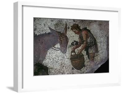 Detail of a floor mosaic in the Great Palace in Istanbul, 6th century. Artist: Unknown-Unknown-Framed Giclee Print
