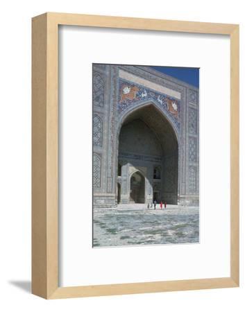 Shir-Dar Madrasa in Samarkand, 17th century. Artist: Unknown-Unknown-Framed Photographic Print