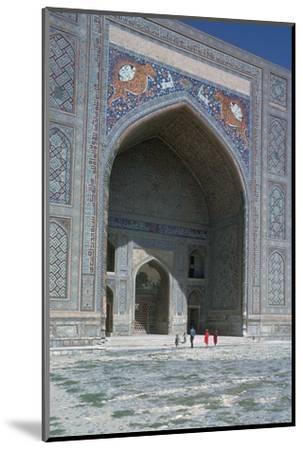 Shir-Dar Madrasa in Samarkand, 17th century. Artist: Unknown-Unknown-Mounted Photographic Print