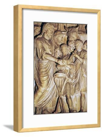 Relief of the Roman emperor Marcus Aurelius making a state sacrifice, 2nd century. Artist: Unknown-Unknown-Framed Giclee Print
