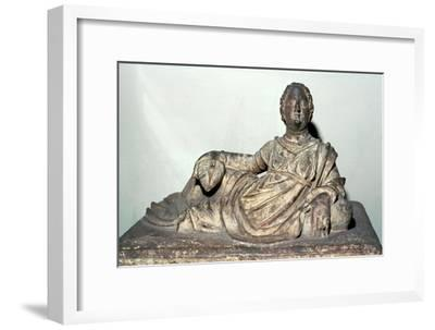 Etruscan sarcophagus. Artist: Unknown-Unknown-Framed Giclee Print