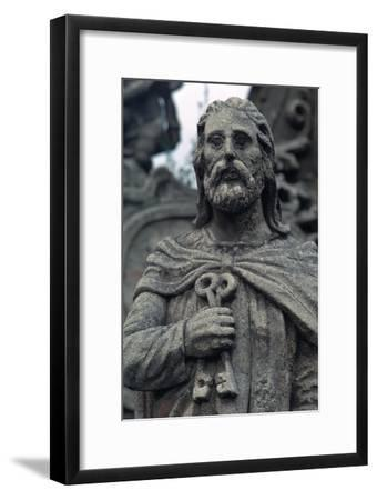 Statue of St Peter. Artist: Unknown-Unknown-Framed Giclee Print