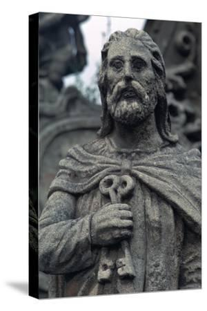 Statue of St Peter. Artist: Unknown-Unknown-Stretched Canvas Print