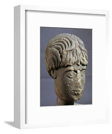 Stone head of Antenociticus, 2nd century BC. Artist: Unknown-Unknown-Framed Giclee Print