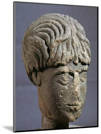 Stone head of Antenociticus, 2nd century BC. Artist: Unknown-Unknown-Mounted Giclee Print