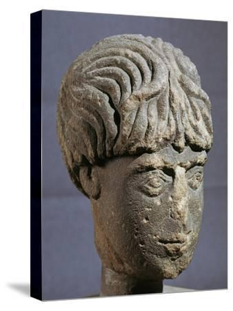 Stone head of Antenociticus, 2nd century BC. Artist: Unknown-Unknown-Stretched Canvas Print