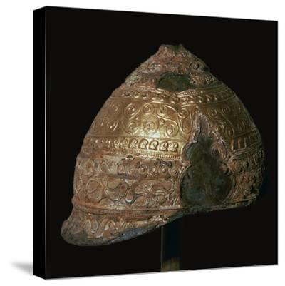 Celtic gold helmet, 4th century BC. Artist: Unknown-Unknown-Stretched Canvas Print