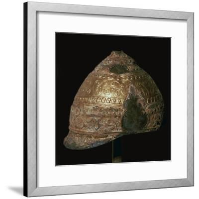 Celtic gold helmet, 4th century BC. Artist: Unknown-Unknown-Framed Giclee Print