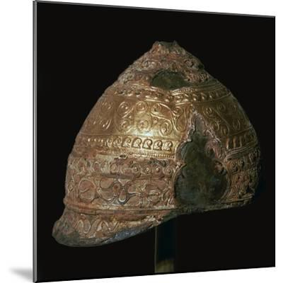 Celtic gold helmet, 4th century BC. Artist: Unknown-Unknown-Mounted Giclee Print