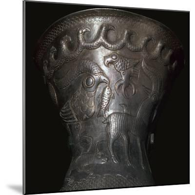 Silver goblet from the Agighiol Treasure, 4th century BC. Artist: Unknown-Unknown-Mounted Giclee Print