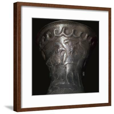 Silver goblet from the Agighiol Treasure, 4th century BC. Artist: Unknown-Unknown-Framed Giclee Print