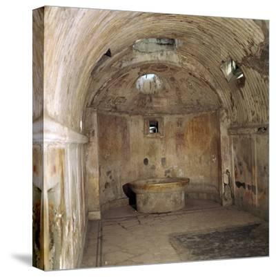 The calidarium of the Forum baths in the Roman town of Pompeii, 1st century. Artist: Unknown-Unknown-Stretched Canvas Print
