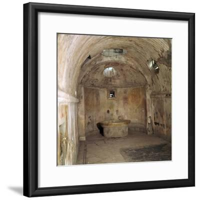 The calidarium of the Forum baths in the Roman town of Pompeii, 1st century. Artist: Unknown-Unknown-Framed Photographic Print