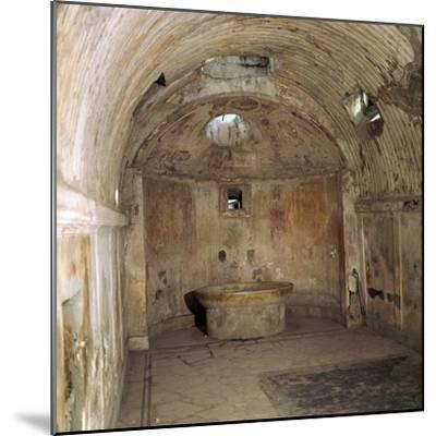 The calidarium of the Forum baths in the Roman town of Pompeii, 1st century. Artist: Unknown-Unknown-Mounted Photographic Print