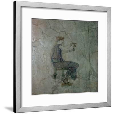 Roman wall-painting of a girl pouring perfume into a small vase, 1st century. Artist: Unknown-Unknown-Framed Giclee Print