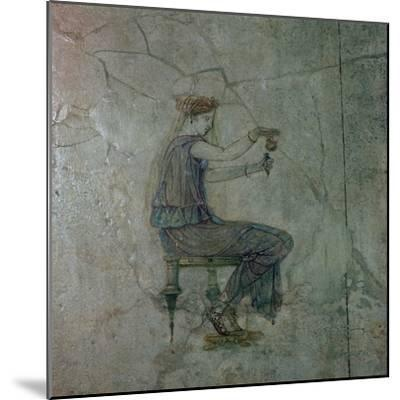 Roman wall-painting of a girl pouring perfume into a small vase, 1st century. Artist: Unknown-Unknown-Mounted Giclee Print