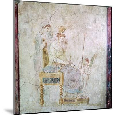 Roman wall-painting of Aphrodite, Eros, and one of the Graces, 1st century. Artist: Unknown-Unknown-Mounted Giclee Print