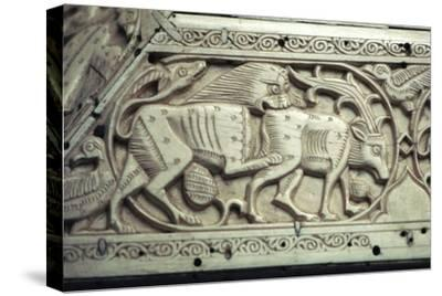 Detail of an Islamic ivory box, 11th century. Artist: Unknown-Unknown-Stretched Canvas Print