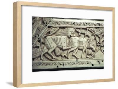 Detail of an Islamic ivory box, 11th century. Artist: Unknown-Unknown-Framed Giclee Print