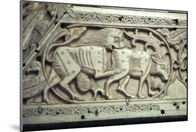 Detail of an Islamic ivory box, 11th century. Artist: Unknown-Unknown-Mounted Giclee Print