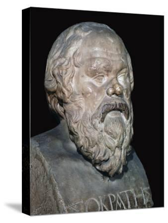 Bust of the Greek philosopher Socrates, 5th century BC. Artist: Unknown-Unknown-Stretched Canvas Print